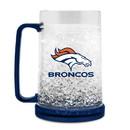 Denver Broncos Mug Crystal Freezer Style Primary Logo
