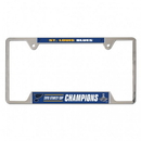 St. Louis Blues License Plate Frame Metal Chrome 2019 Stanley Cup Champs