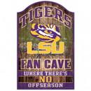LSU Tigers Sign 11x17 Wood Fan Cave Design