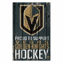 Vegas Golden Knights Sign 11x17 Wood Proud to Support Design
