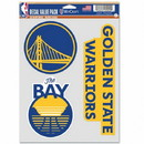 Golden State Warriors Decal Multi Use Fan 3 Pack