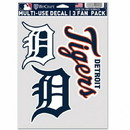Detroit Tigers Decal Multi Use Fan 3 Pack