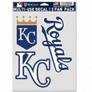 Kansas City Royals Decal Multi Use Fan 3 Pack