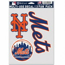 New York Mets Decal Multi Use Fan 3 Pack