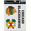 Chicago Blackhawks Decal Multi Use Fan 3 Pack