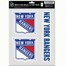 New York Rangers Decal Multi Use Fan 3 Pack