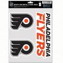 Philadelphia Flyers Decal Multi Use Fan 3 Pack
