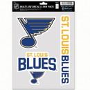 St. Louis Blues Decal Multi Use Fan 3 Pack