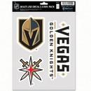 Vegas Golden Knights Decal Multi Use Fan 3 Pack