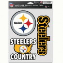 Pittsburgh Steelers Decal Multi Use Fan 3 Pack