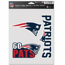 New England Patriots Decal Multi Use Fan 3 Pack