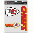 Kansas City Chiefs Decal Multi Use Fan 3 Pack