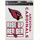Arizona Cardinals Decal Multi Use Fan 3 Pack