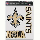 New Orleans Saints Decal Multi Use Fan 3 Pack