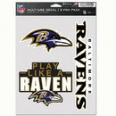 Baltimore Ravens Decal Multi Use Fan 3 Pack