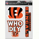 Cincinnati Bengals Decal Multi Use Fan 3 Pack