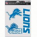 Detroit Lions Decal Multi Use Fan 3 Pack