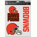 Cleveland Browns Decal Multi Use Fan 3 Pack