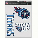Tennessee Titans Decal Multi Use Fan 3 Pack
