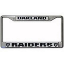 Oakland Raiders License Plate Frame Chrome Silver