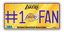 Los Angeles Lakers License Plate - #1 Fan