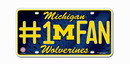 Michigan Wolverines License Plate - #1 Fan