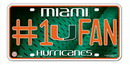 Miami Hurricanes License Plate - #1 Fan