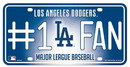 Los Angeles Dodgers License Plate - #1 Fan