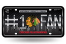 Chicago Blackhawks License Plate  - #1 FAN
