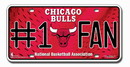 Chicago Bulls License Plate - #1 Fan