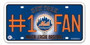 New York Mets License Plate - #1 Fan