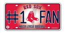 Boston Red Sox License Plate - #1 Fan