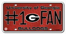 Georgia Bulldogs License Plate - #1 Fan