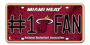 Miami Heat License Plate - #1 Fan