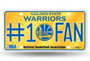 Golden State Warriors License Plate - #1 Fan
