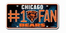 Chicago Bears License Plate - #1 Fan