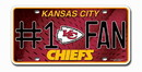 Kansas City Chiefs License Plate - #1 Fan