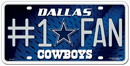 Dallas Cowboys License Plate - #1 Fan