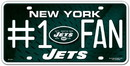 New York Jets License Plate - #1 Fan