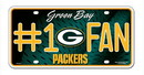 Green Bay Packers License Plate - #1 Fan