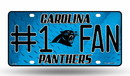 Carolina Panthers License Plate - #1 Fan