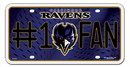 Baltimore Ravens License Plate - #1 Fan
