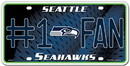 Seattle Seahawks License Plate - #1 Fan