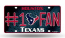 Houston Texans License Plate - #1 Fan