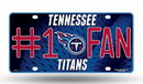 Tennessee Titans License Plate - #1 Fan