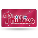 Philadelphia Phillies License Plate Laser Cut Red