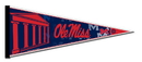 Mississippi Rebels Pennant 12x30 Carded Rico Special Order