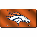 Denver Broncos Laser Cut Orange License Plate