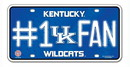 Kentucky Wildcats License Plate - #1 Fan