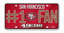 San Francisco 49ers License Plate - #1 Fan